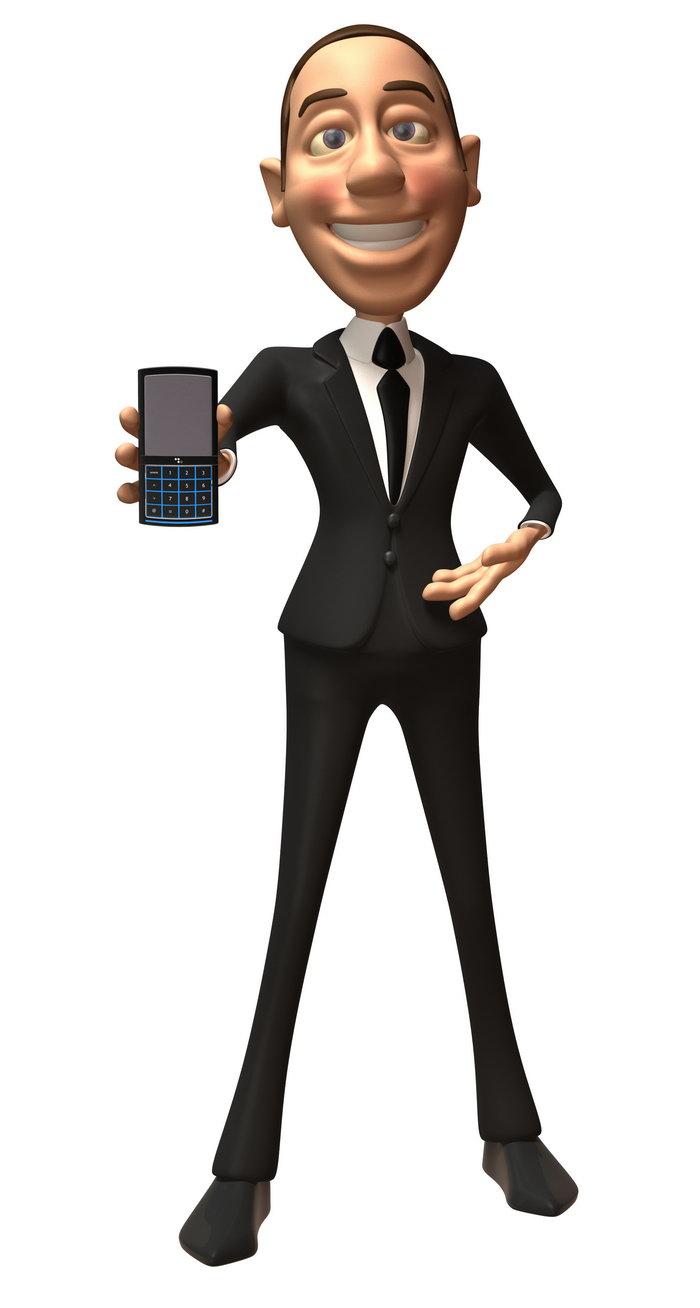 卡通3d立体商务人物图片