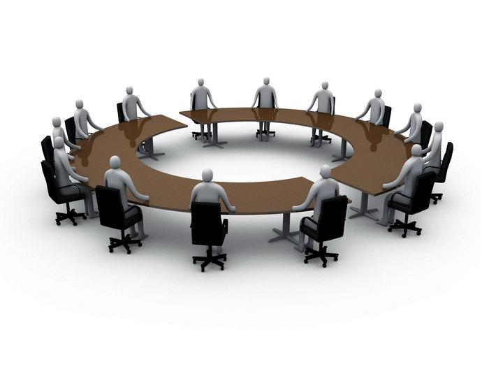 3d人物圆桌会议图片