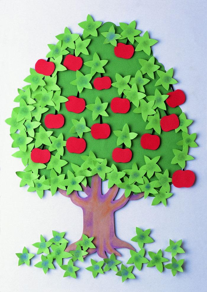 苹果树剪贴画图片-素彩图片大全