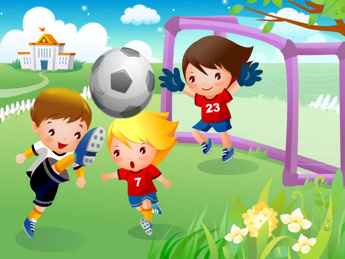 儿童足球运动卡通图片-足球运动,强健体魄 然后我们对阳光足球队进
