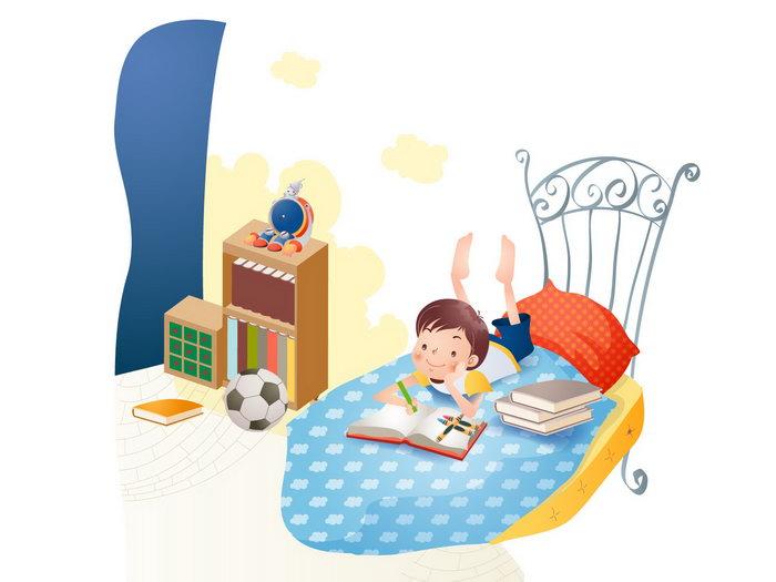 儿童学习卡通图片