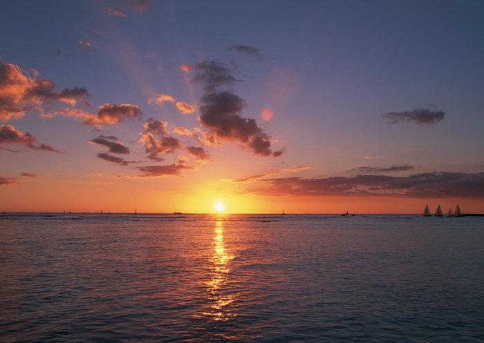 海上日出天空美景图片,海上日出,天空景观,天空美景,摄景图,风景,2950