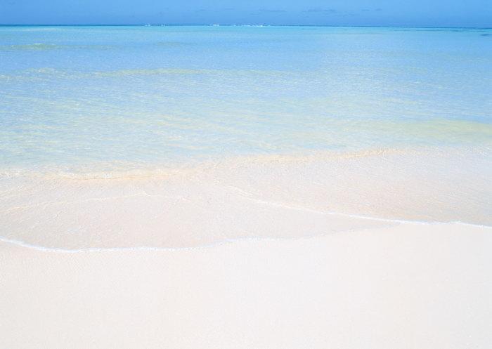大海沙滩旅游风光摄影图片-素彩图片大全
