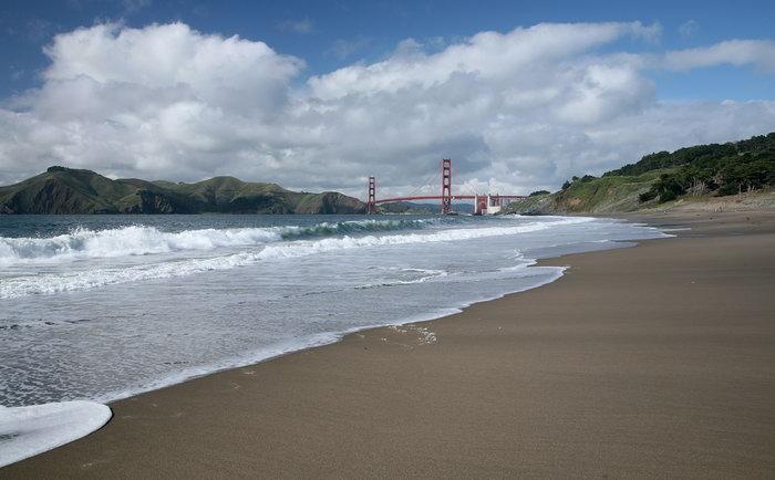 海滩海浪大海风景风光图片-素彩图片大全
