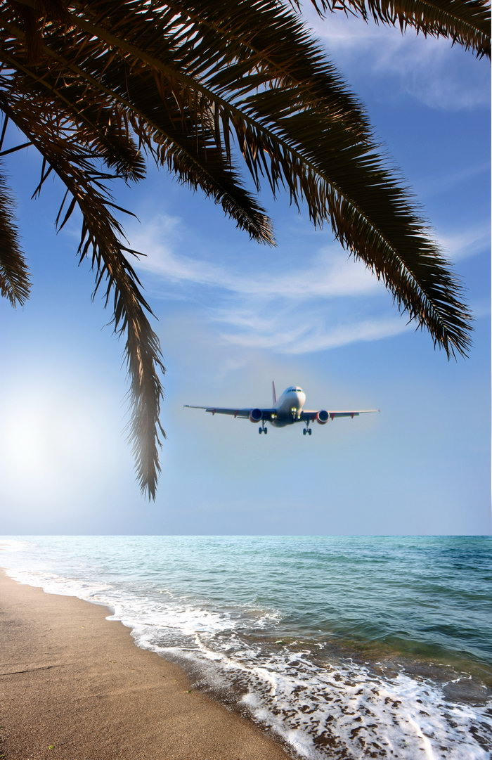 海上飞机大海风景风光图片