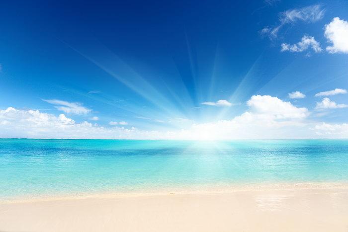 彩海边风景画简单_海边风光大海风景风光图片-素彩图片大全