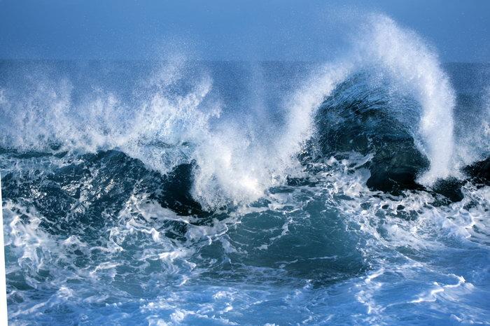 汹涌的海浪大海风景风光图片