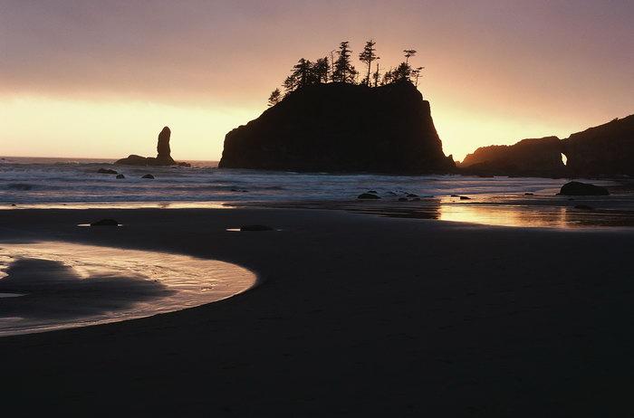 夕阳海滩大海风景风光图片