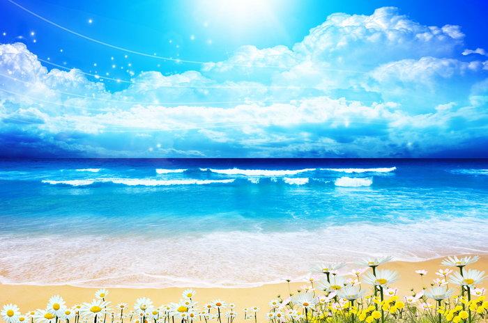 海岸大海风景风光图片-素彩图片大全