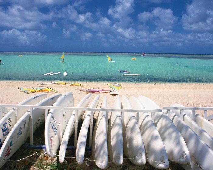 夏威夷海滩大海风景风光图片,夏威夷海滩风景夏威夷风光,蓝天白云