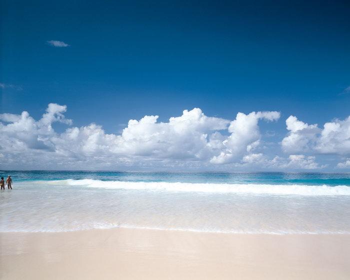 彩海边风景画简单_夏威夷海滩大海风景风光图片-素彩图片大全