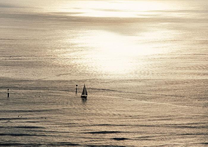 大海夕阳大海风景风光图片-素彩图片大全