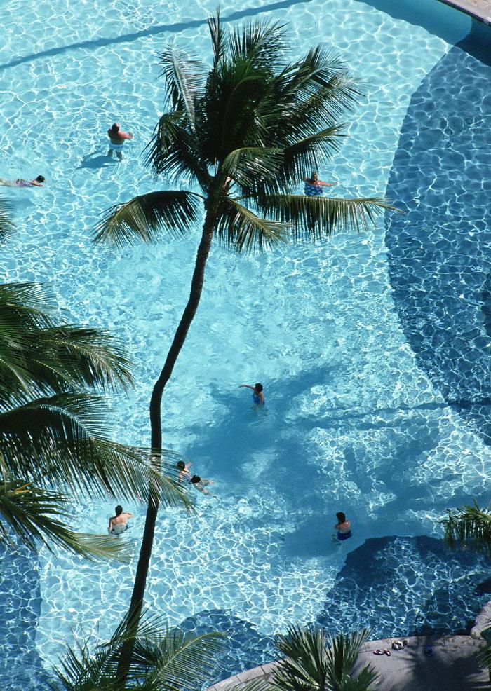 泳池大海风景风光图片