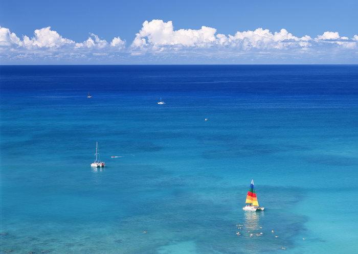 海天一线大海风景风光图片-素彩图片大全