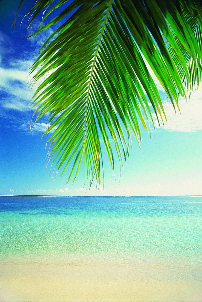 海滩风景大海风景风光图片-素彩图片大全