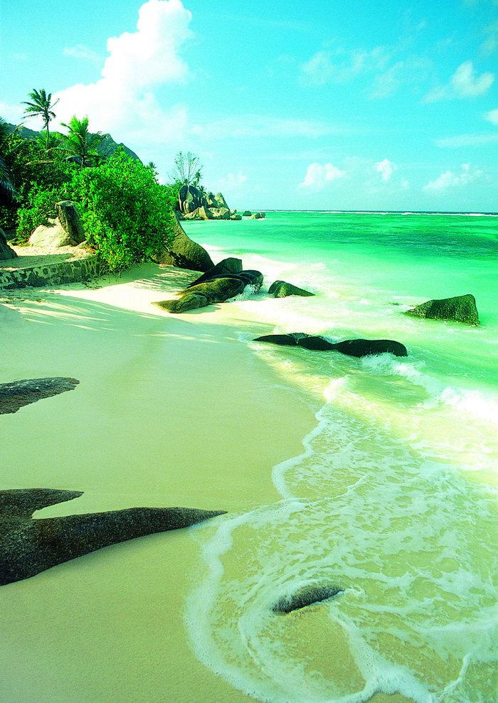 沙滩大海风景风光图片