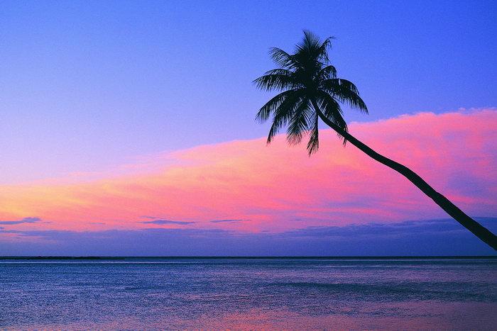 大海夜景大海风景风光图片-素彩图片大全