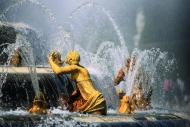 城市喷泉建筑图片