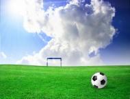 球场足球球门图片
