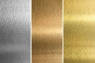 金色银色拉丝金属质感背景图片
