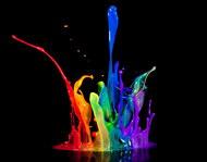 多款彩色颜料元素图片