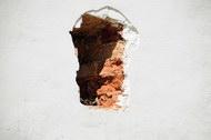 窟窿墙壁图片1